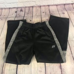 Russell Boys Black and Gray Athletic Pants Size M